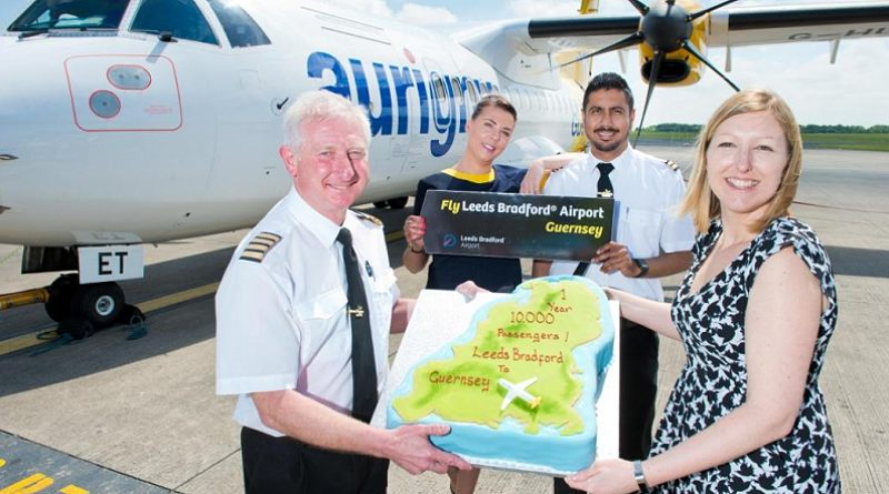 Aurigny marks 1st anniversary at leeds bradford airport bradford zone a route between leeds bradford airport and guernsey is today celebrating its first anniversary and will operate five flights a week throughout the summer to m4hsunfo